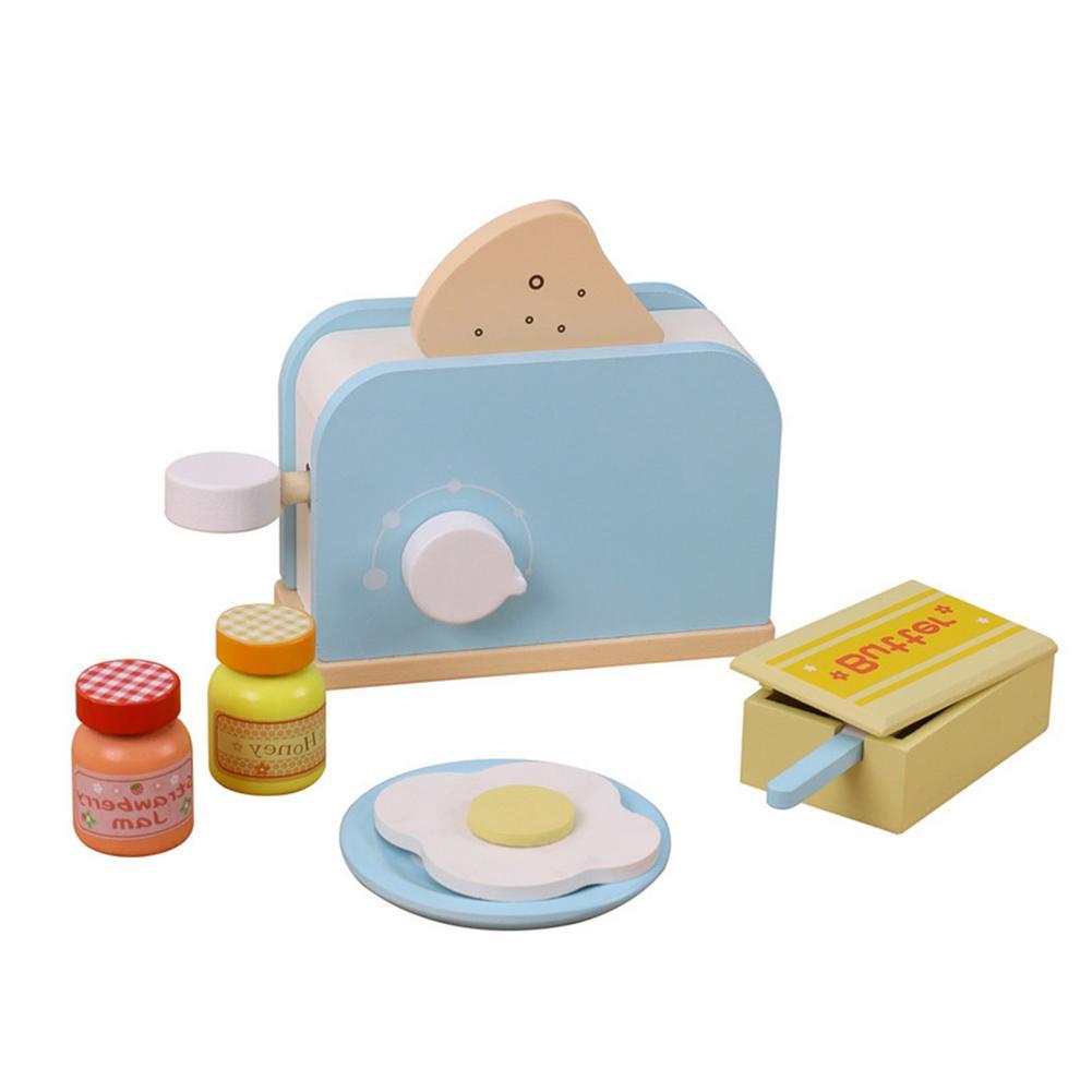 Детские деревянные комплекты для ролевых игр, ролевые тостеры, хлебопечка, детская кухня, игровой домик, деревянная хлебопечка, развивающие...