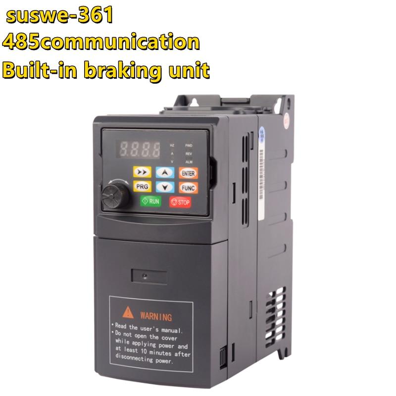 361 VFD AC220V 380 فولت 1.5kw 2.2 كيلو واط 5.5 kwمتغير تردد محرك محول عاكس التردد سرعة تحكم ل 3-محرك أحادي الأطوار