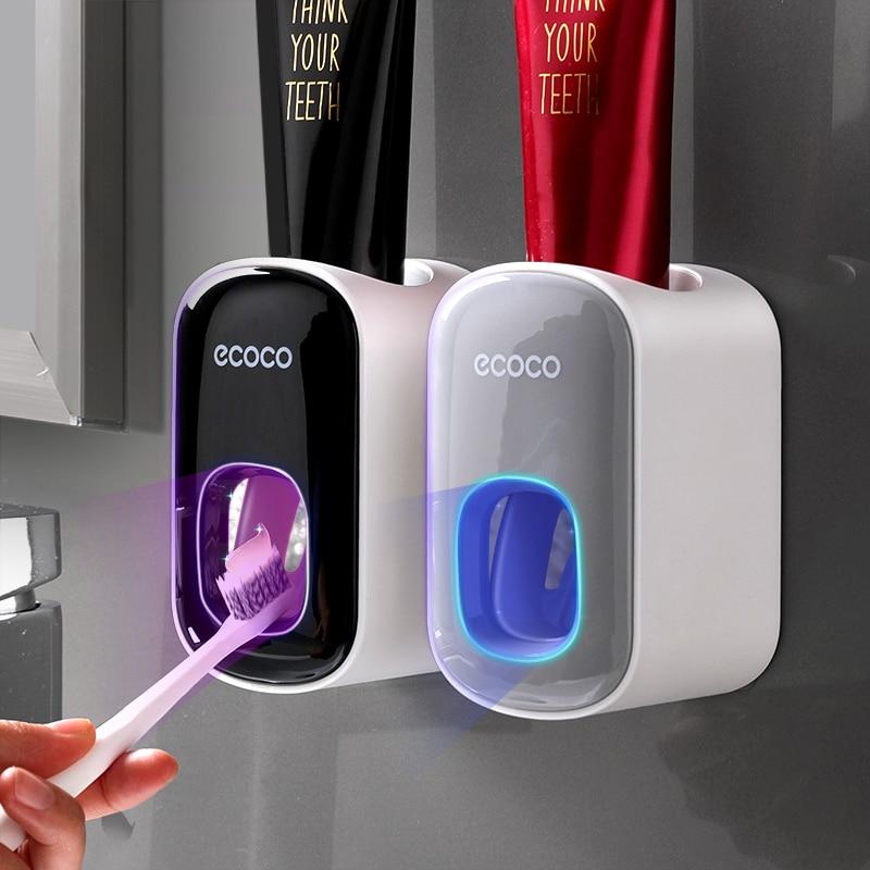 Набор аксессуаров для ванной комнаты, автоматический дозатор зубной пасты, настенный держатель, держатель для зубной щетки зубной гель экопром cliny к104 75мл