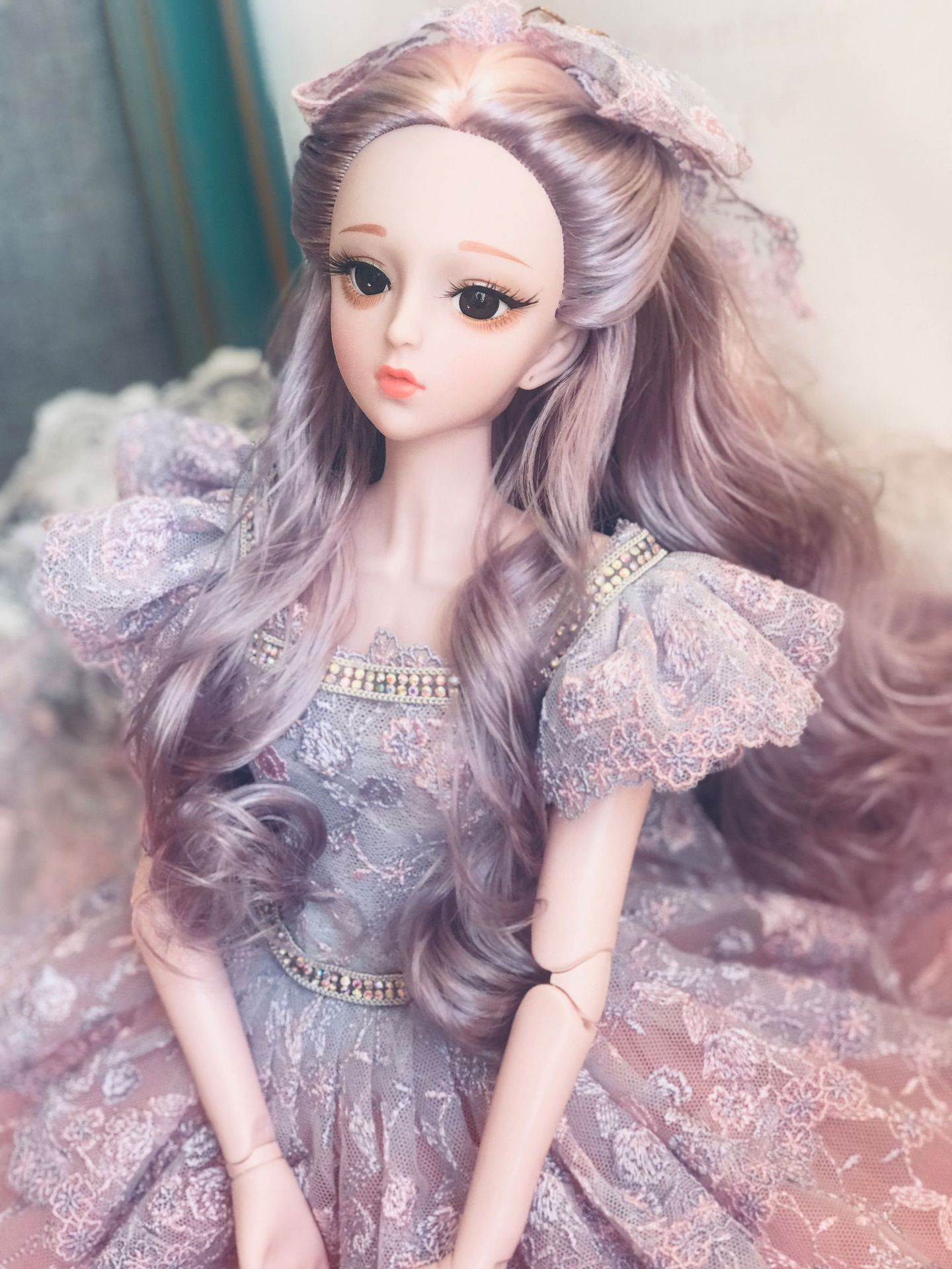 Hot 60CM 1/3 BJD Spherical Joint Doll Toy 3D Black Eyes Long Wig Ordinary Skin Plastic Nude Fashion Makeup DIY Girl Gift Doll new 21 movable joint 60cm bjd doll 3d eyes long wig detachable hair cover 1 3 fashion dress up body doll girl toy christmas gift