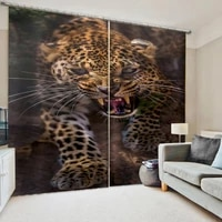 custom tiger curtains 3d curtain printing blockout polyester photo drapes fabric for room personality curtains