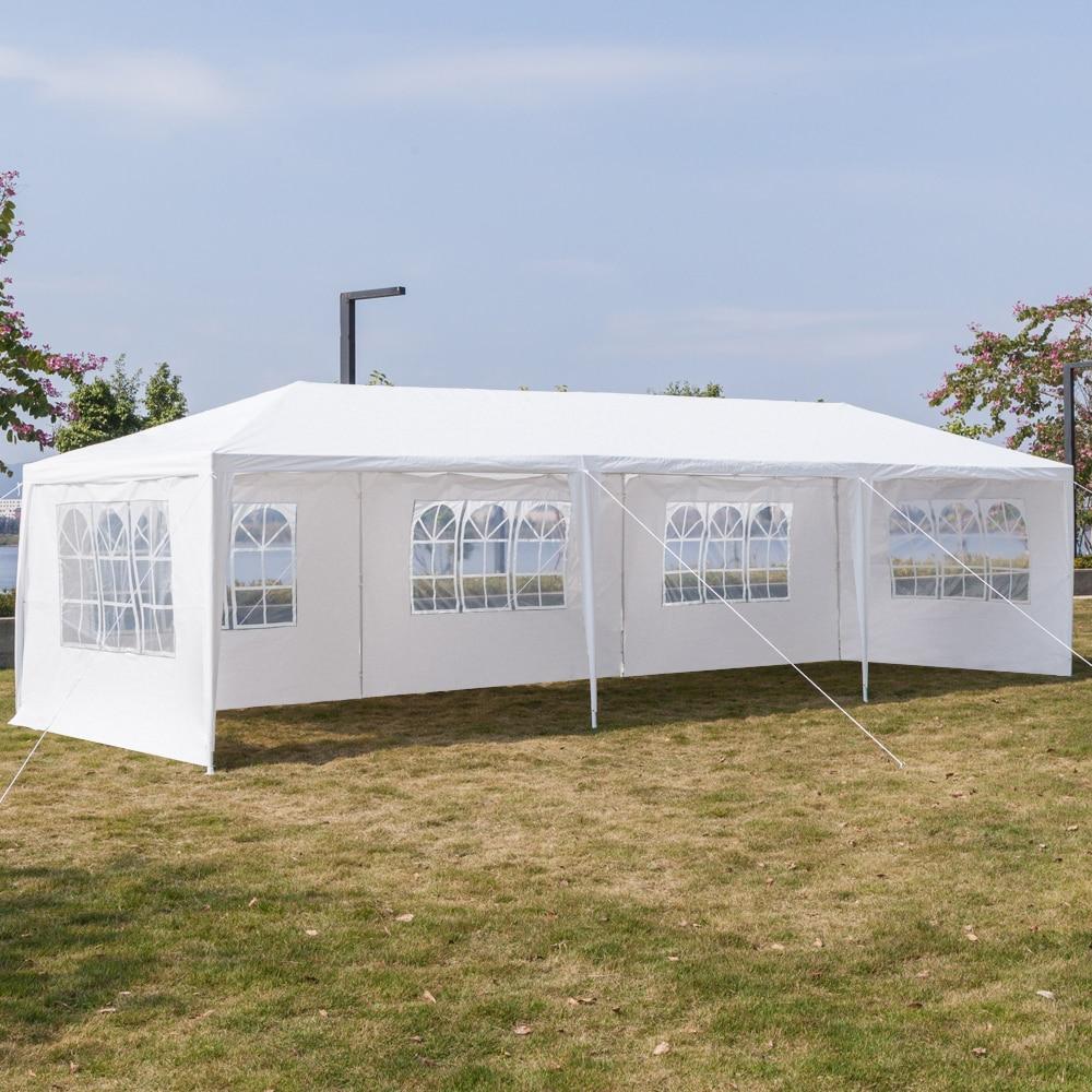 3x9 متر خمسة الجانبين ويندوز خيمة مقاومة للماء مع أنابيب دوامة اضافية كبيرة في الهواء الطلق العريشة لحفل الزفاف الشواء نزهة أكشاك