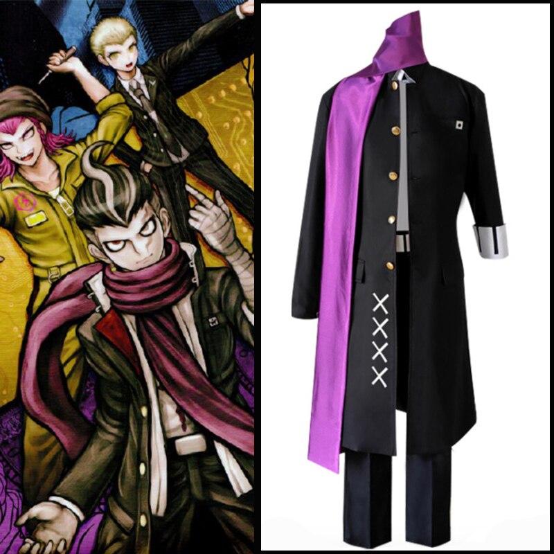 Juego Danganronpa 2, disfraces de Cosplay de desesperanza Tanaka Gandamu, disfraces Cosplay de uniformes, trajes de ropa, juegos completos de Anime