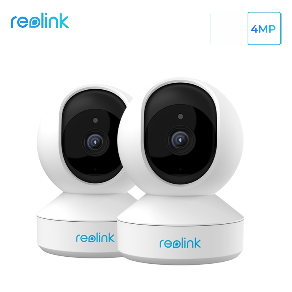 Reolink-مجموعة من 2 كاميرات أمان IP بدقة 4 ميجابكسل ، 2.4G/5G ، واي فاي ، إمالة ، فتحة بطاقة SD ، صوت ثنائي الاتجاه ، E1 Pro