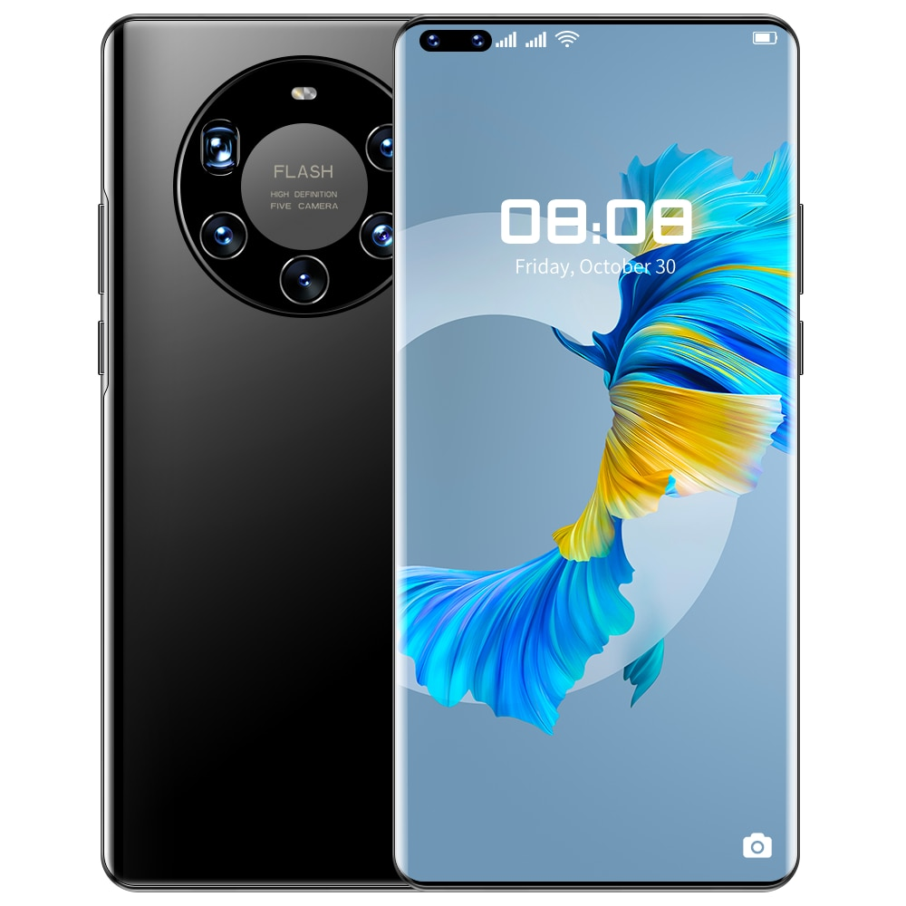 Mate40 Pro+ SmartPhone 7.3inch Global Version 512GB 6000mAh Android 10.0 GPS Wifi 4G 5G MTK6889 Mobi