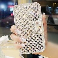 leather diamond case for samsung galaxy a51 a71 a21s a41 a11 a31 a70 a50 a40 s8 s9 s10 note 9 10 20 ultra plus flip phone cover