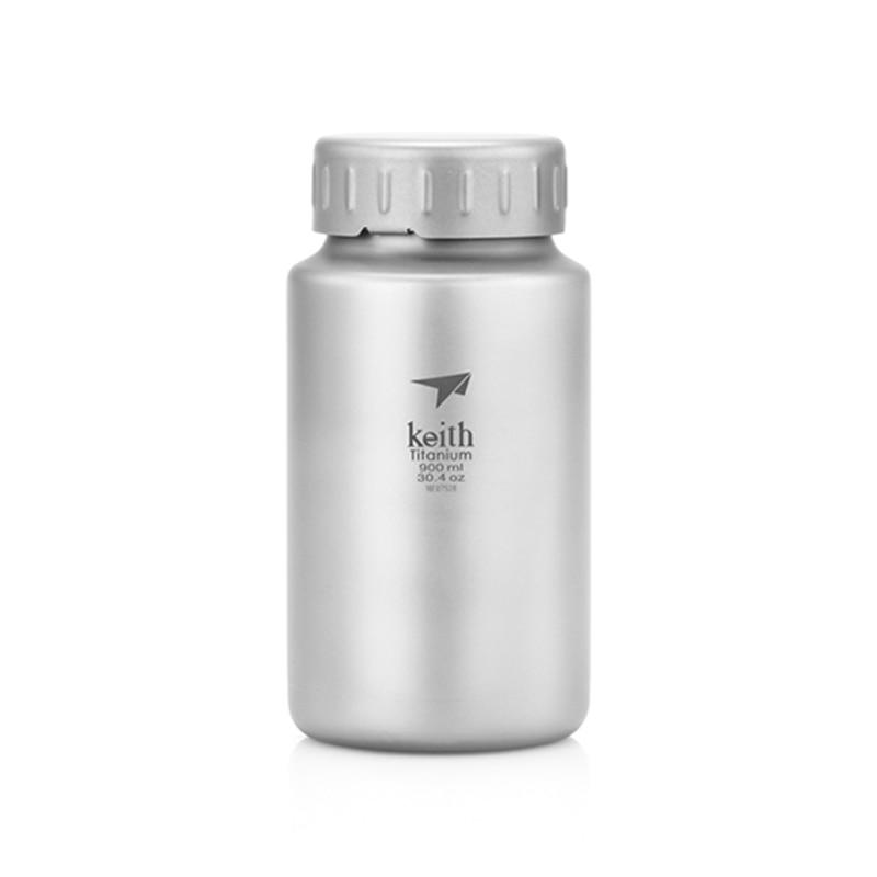 كيث غلاية 900 مللي 1200 مللي التيتانيوم المياه زجاجة واسعة الفم غلاية Drinkware الرياضة زجاجة عصير الليمون الحاويات