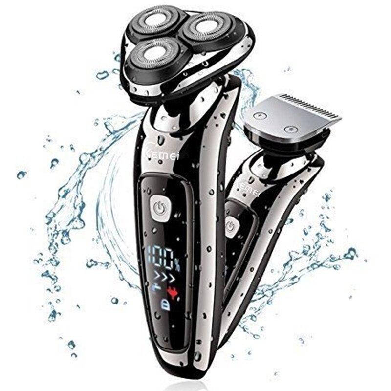 Original combo wet dry facial stubble pro electric shaver hair trimmer beard electric razor for men shaving machine waterproof enlarge