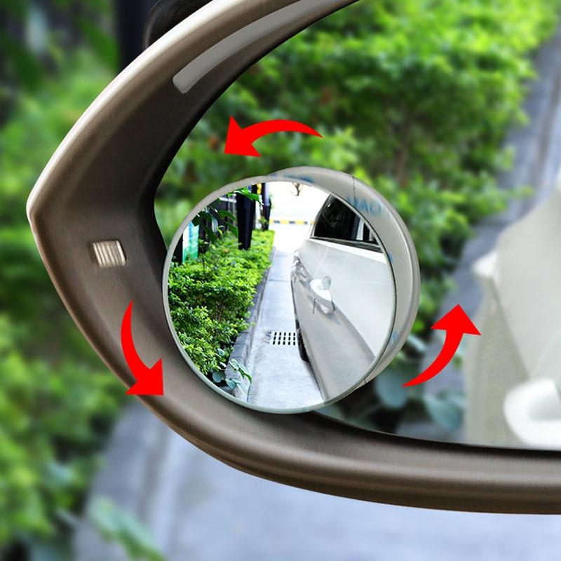 Auto 360-grad weitwinkel runden konvexen spiegel rückspiegel kleine runde spiegel für Acura RLX CL EL CSX ILX MDX NSX RDX RL SLX