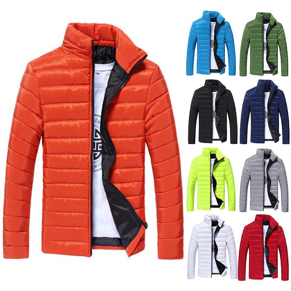 Мужские куртки, пальто, парки с воротником, теплые мужские однотонные хлопковые парки, куртка, Мужская длинная стеганая зимняя куртка с воро...