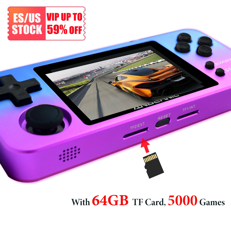 Игровая консоль ANBERNIC RG280M, портативная карманная ретро мини-игровая консоль 2,8
