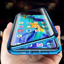 Metal Magnetic Case For Xiaomi Redmi Note 9s 7 8 8T 9 10X Pro Max K20 K30 Mi 9T Note 10 Lite Double Sided Tempered Glass Cover