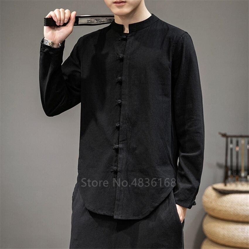 2020, camisas de lino de estilo chino Wingchun Kung Fu Tai Chi estilo Casual Oriental, Tops tradicionales, abrigos Vintage de talla grande, trajes Tang