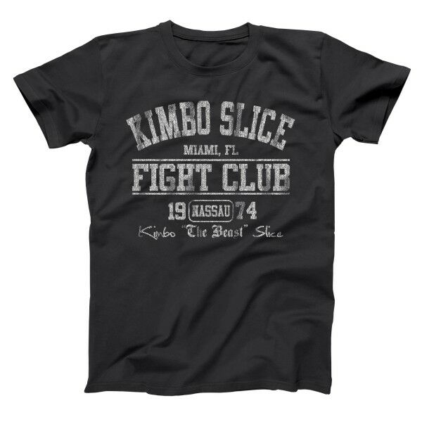 Summer 2019 Kimbo Slice Fight Club Miami MTAa BoxerING Gymer Black Basic Mens T-Shirt Pulp Fiction Streetwear John Wick