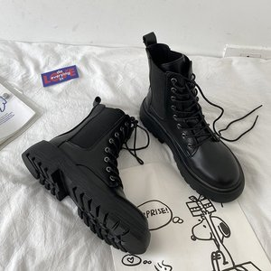 Slim shoes net red ins trendy Martin boots women's autumn 2020 new 100 strap thin British style short boots.