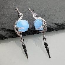Fashion Bohemia Style Peacock Bird Earrings Creative Lady Stone Dangle Earrings Jewelry for  Women Party Best Gift