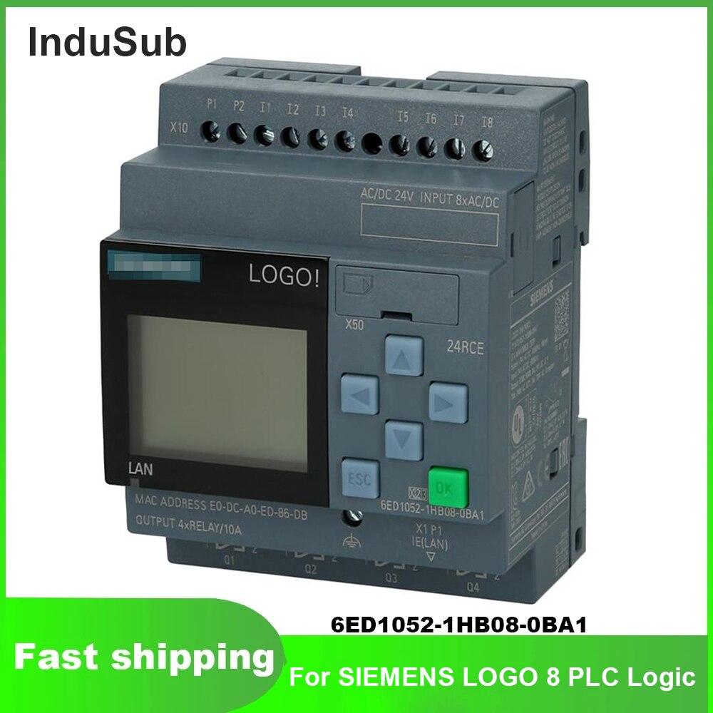 جديد وأصلي 6ED1052-1HB08-0BA1 شعار 8 PLC وحدة المنطق عرض إيثرنت ويب 12 24 230 CE 1HB08