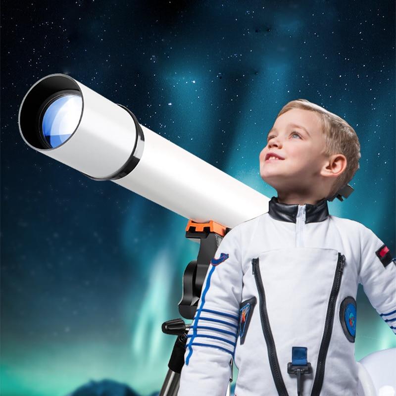 80500 تلسكوب فلكي احترافي قابل للانكسار مع حامل ثلاثي القوائم ومحول نقطة حمراء ومحول هاتف لمراقبة القمر والكوكب