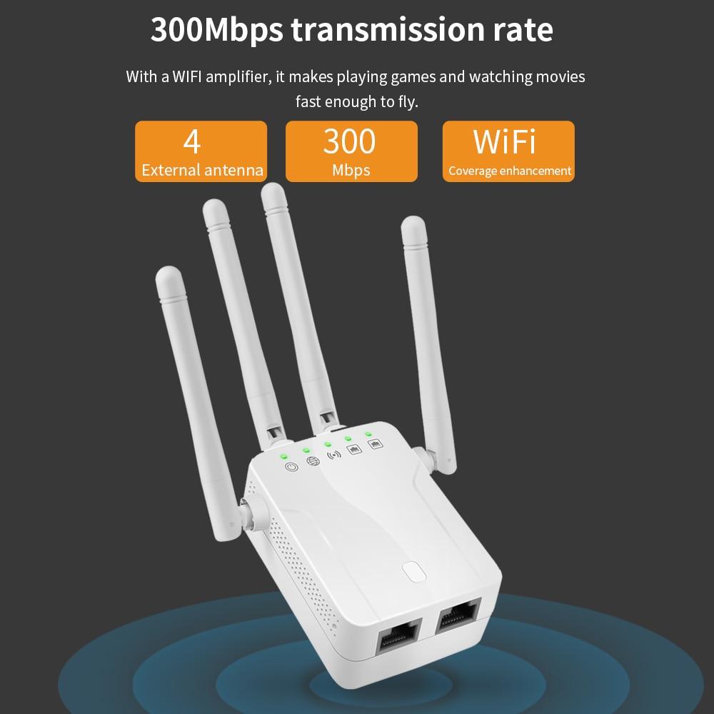 Новый беспроводной ретранслятор Wi-Fi роутер 300 м усилитель сигнала удлинитель 4 антенны Усилитель сигнала для дома офиса усилитель шлюза