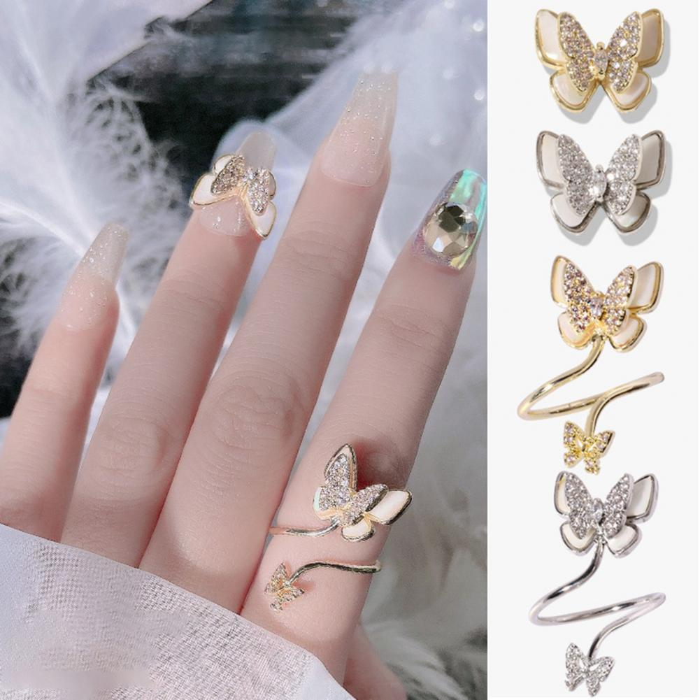 50% Hot Sale Nail Rhinestone Double Layer Exquisite Fastness All-match Nail Art Tools for Women