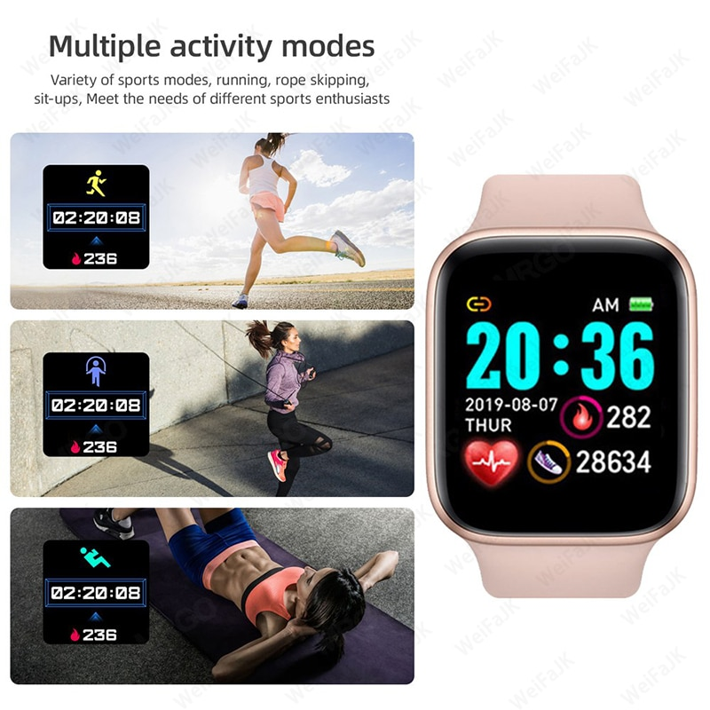 Review 2021 Watches Men Women Smartwatch Heart Rate Step Calorie Fitness Tracking Sports Bracelet For  Android Smart Watch
