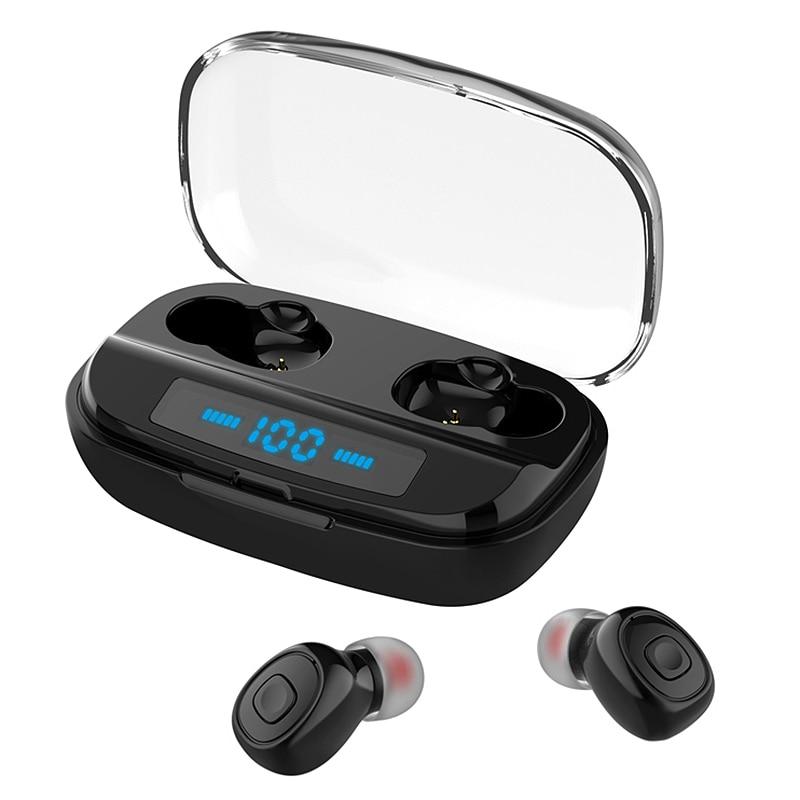 FULL-XI10S TWS auriculares deportivos e inalámbricos con Bluetooth Estéreo 5,0 en-oído con pantalla Digital caja de carga Bluetooth Headse
