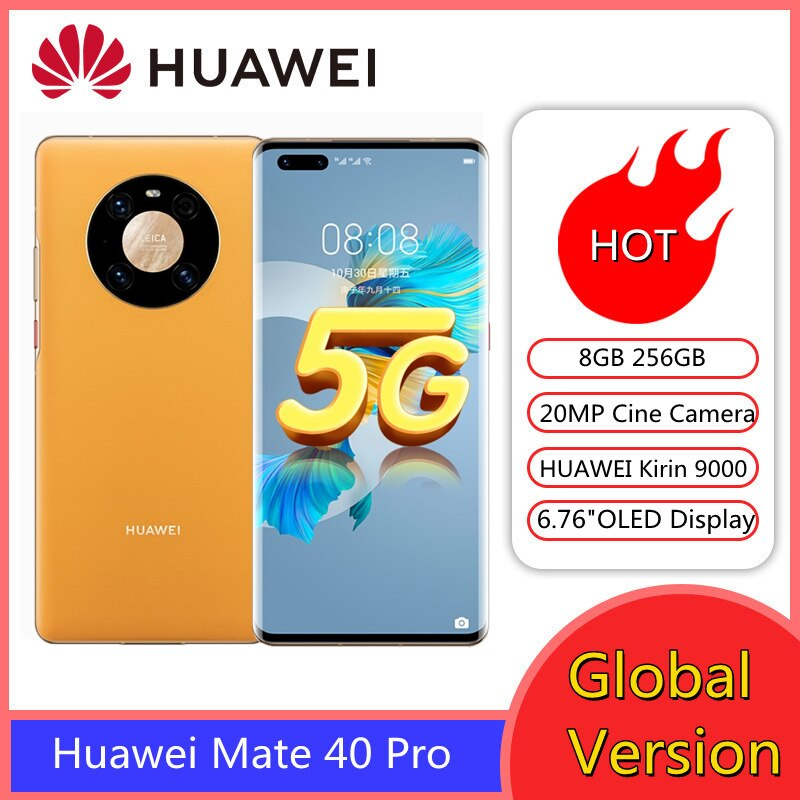 Original HUAWEI Mate 40 5G SmartPhones 8GB 256GB 6.5 inch OLE Octa Core5nm crafts 50MP Ultra Vision Camera SuperCharge Cellphone