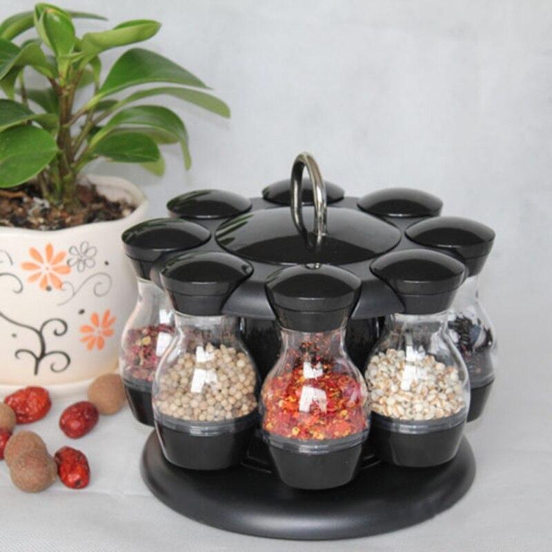 Spice Rack Organizer Wall Cabinet Door Hanging Spice Jars Clip Hooks Set Storage Holder Gripper Kitchen Accessories