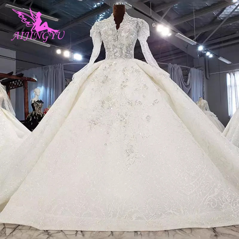 AIJINGYU-فساتين صينية قصيرة كبيرة الحجم ، فساتين زفاف على الإنترنت ، فساتين محلات الزفاف ، لبنان