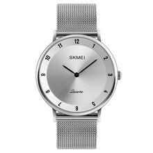 SKMEI1264 Simple Couple Business Watch Net Belt Quartz Watch Korean Leisure Couple Watch