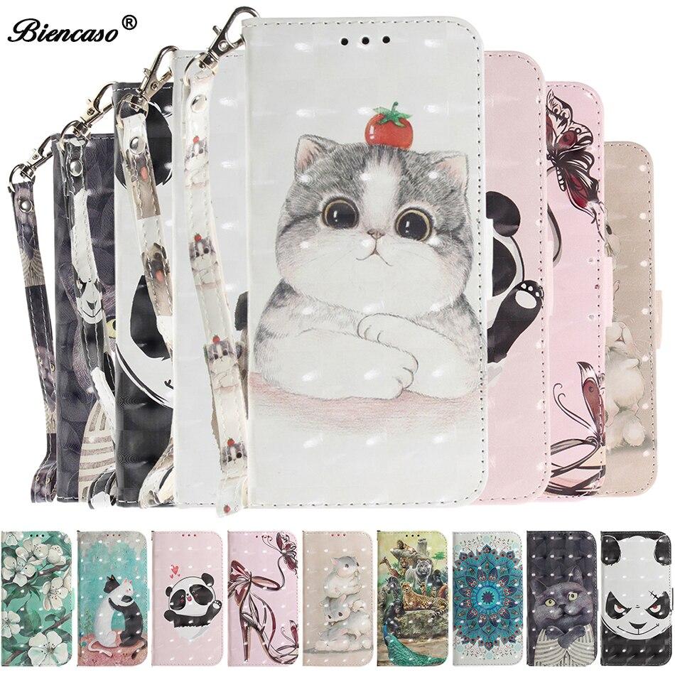 Stand Case for Samsung Galaxy A7 2018 Cases A3 2017 A5 S7 Edge Cute Cat Handbag J3 J5 2016 J2 Core J4 J6 Plus Cover A9 Note 10