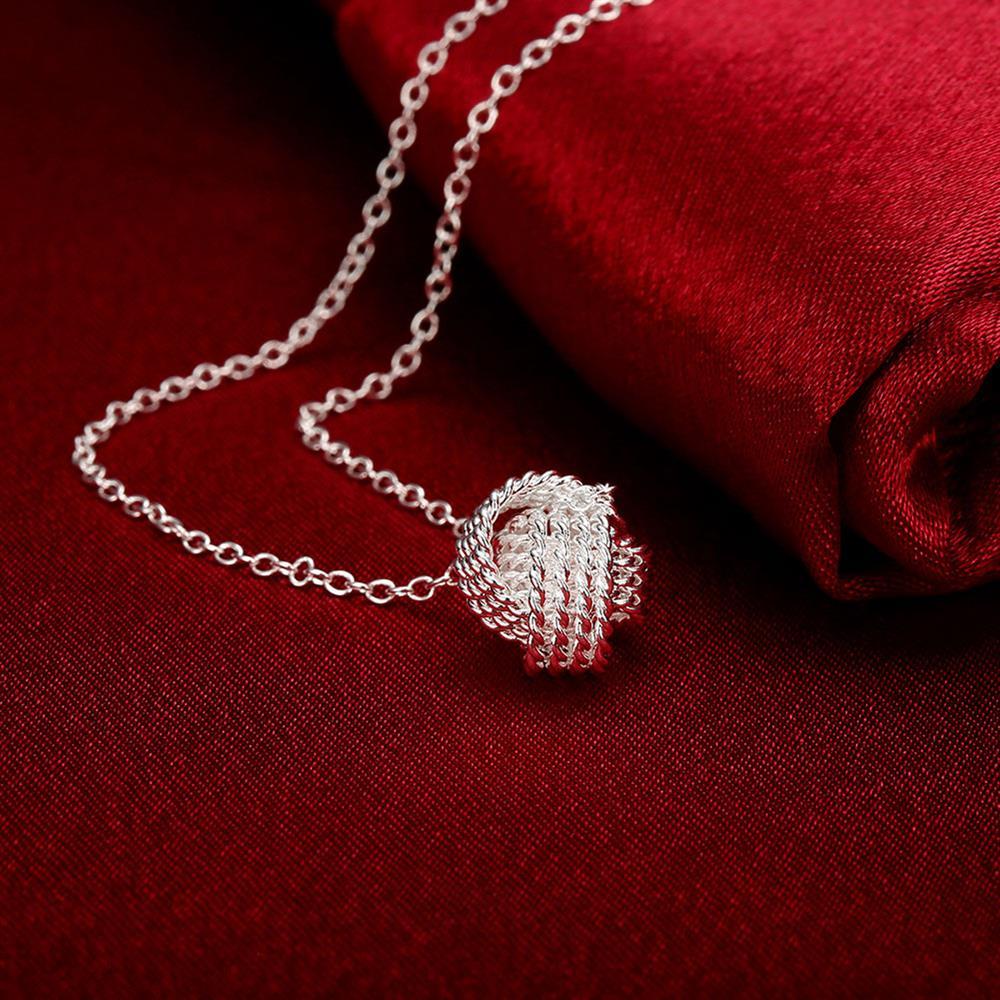 Горячая-925-стерлингового-серебра-ткань-мяч-кулон-ювелирные-изделия-18-дюймов-колье-с-подвеской-для-женщин-вечерние-свадебные-подарки-на-день