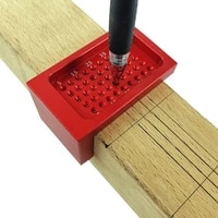 measuring scriber mini red 6848mm woodworking ruler positioning durable metric hand tool alloy parts aluminium hole o7x9