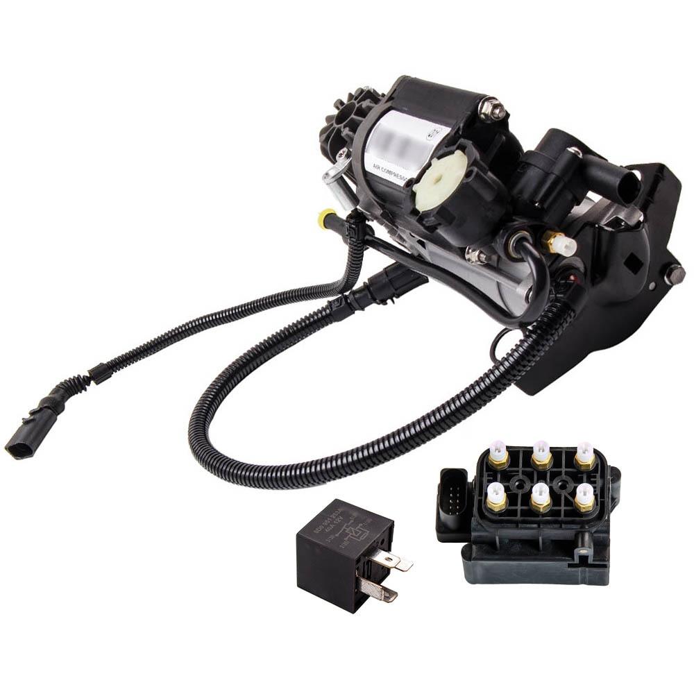 Bomba de compresor de suspensión neumática con relé para Audi A6 Allroad 01-05 bloque de válvula solenoide de resorte de aire 4Z7616007