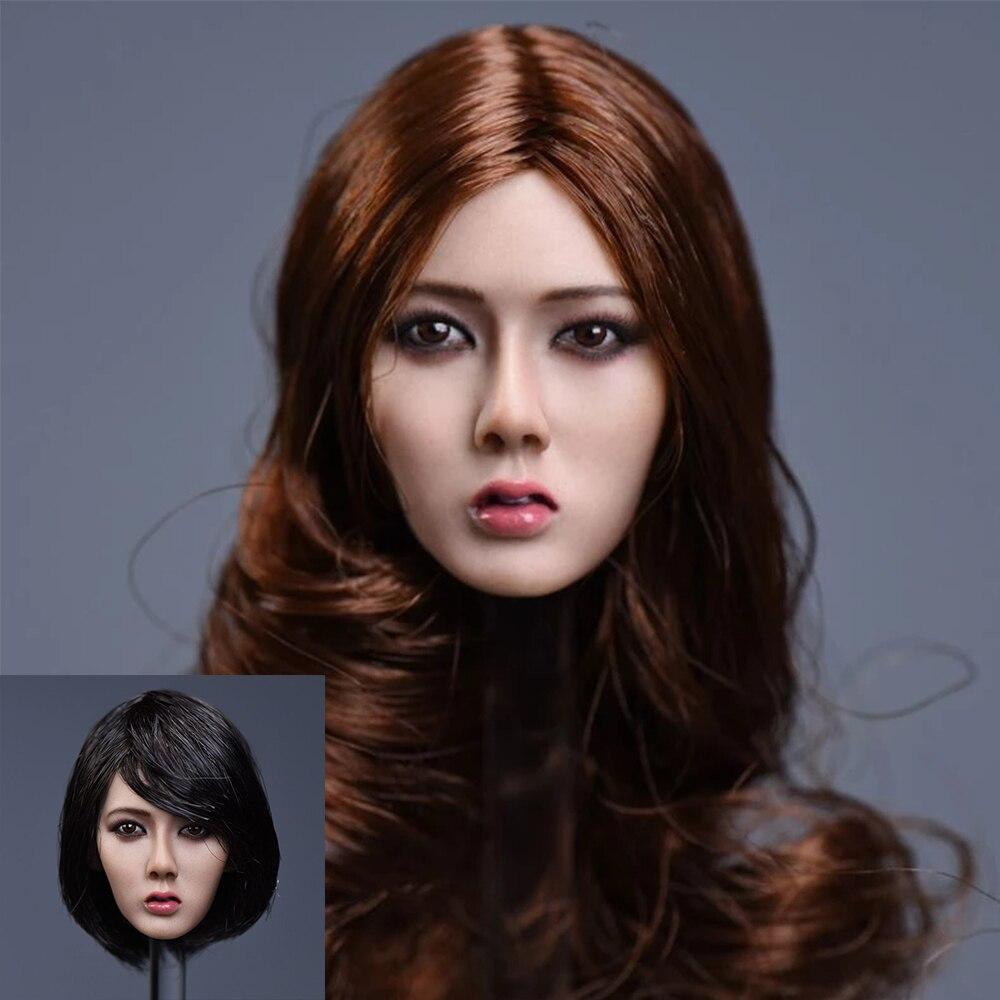 1/6 Scale Head Model Asia Girl Head SculptF 12