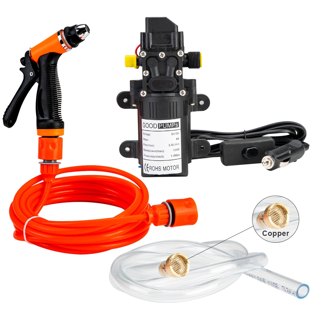 12V Car Washer Gun Pump High Pressure Cleaner Cordless Car Washing Machine Electric Cleaning Auto Wash Cleaning Tool Accessories