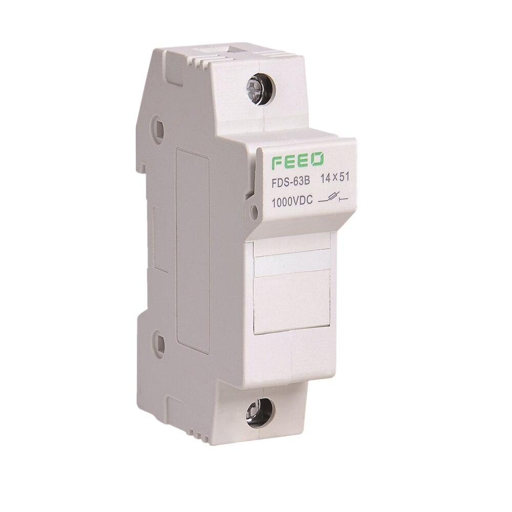 Solar PV Fuse Holder DC 1000V 14*51  Voltage for Solar System Protection