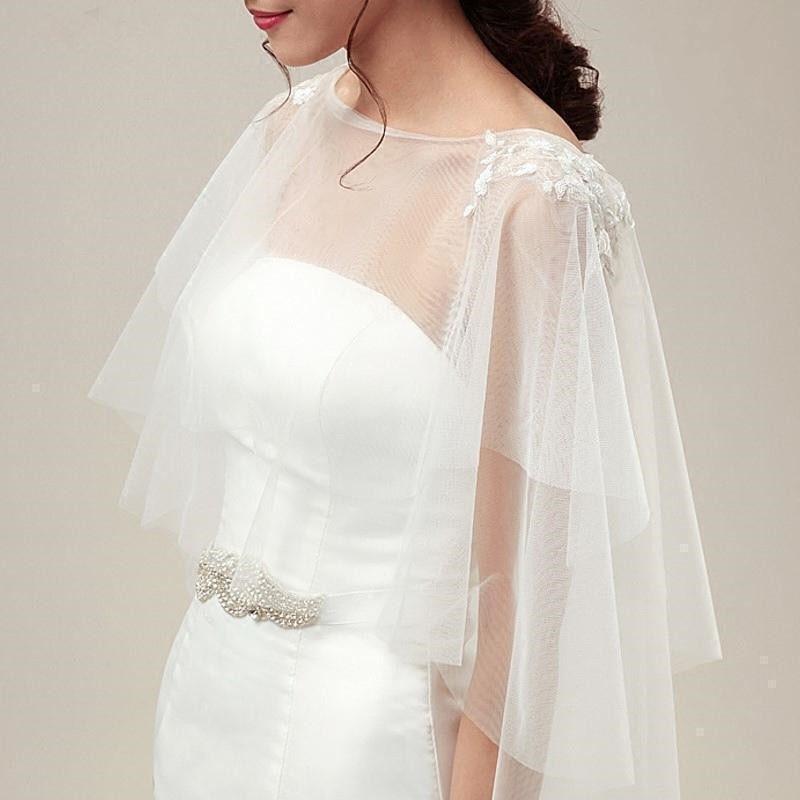 Casacos de casamento envolve capas de noiva manto tule romântico chaqueta mujer acessórios de casamento capa coprispalle donna encolher bolerko