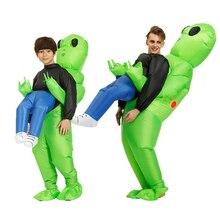 Costume gonfiabile alieno per bambini adulti Costume da ragazza per ragazzi Costume Cosplay vestito divertente Anime Fancy Dress Costume di Halloween per uomo donna