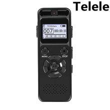 Цифровой диктофон Telele, диктофон для звукозаписи, MP3, светодиодный дисплей, Голосовая активация, поддержка 64G, расширение, шумоподавление