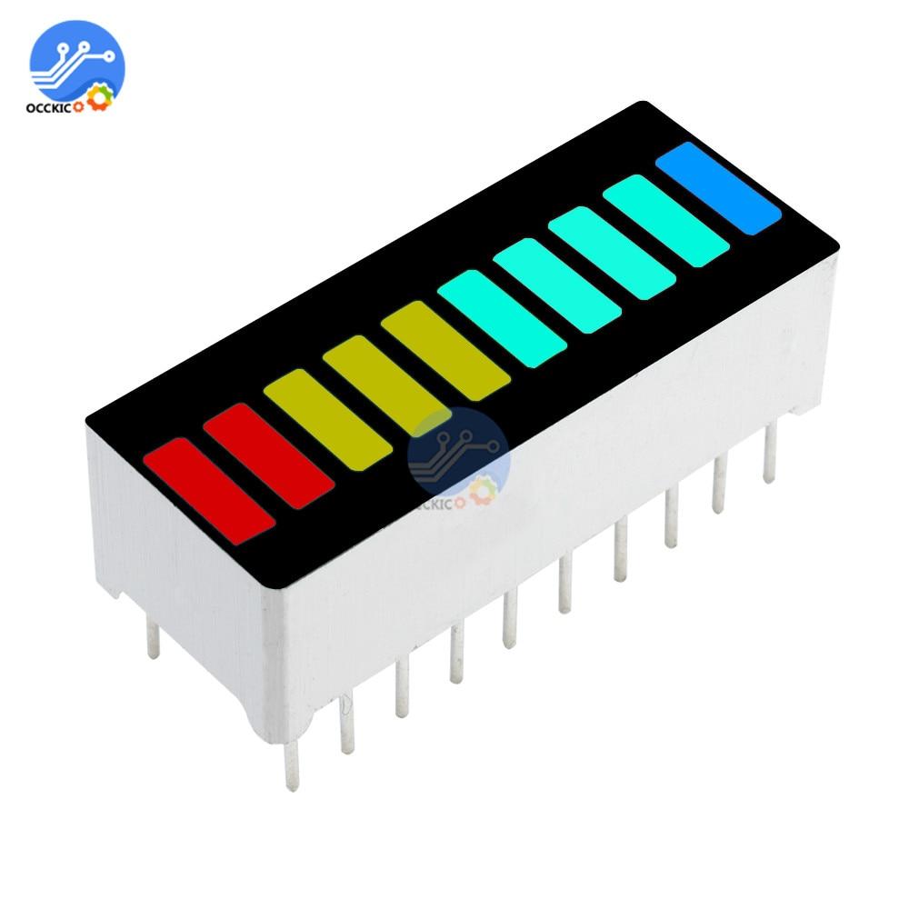 1Pcs 10 Segment LED Bargraph Light Display Module Bar Graph Ultra Bright Red Yellow Green Blue Colors Multi-color DIY Wholesale