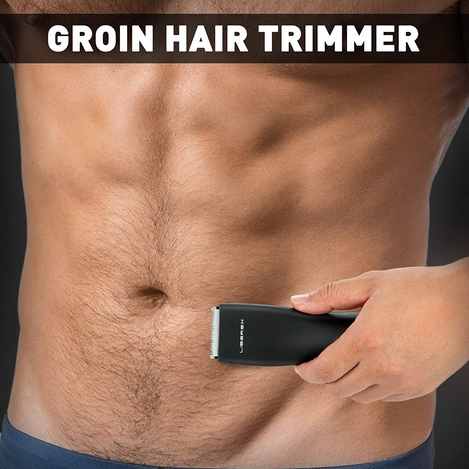 Liberex Electric Groin Hair Trimmer for Men - Pubic Hair Trimmer Body Grooming Clipper Rechargeable Ultimate Male Hygiene Razor enlarge
