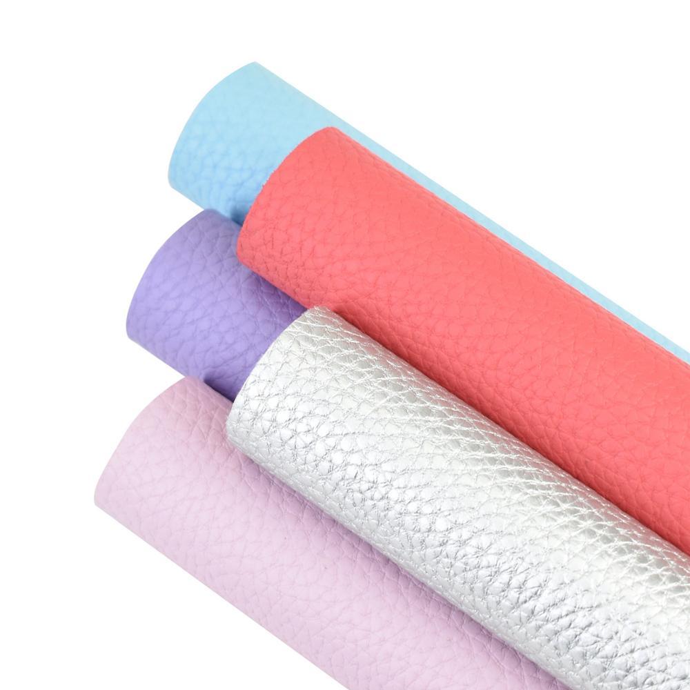 Hsd-artesanato diy fornece 20*34cm sólido colorido litchi falso sintético
