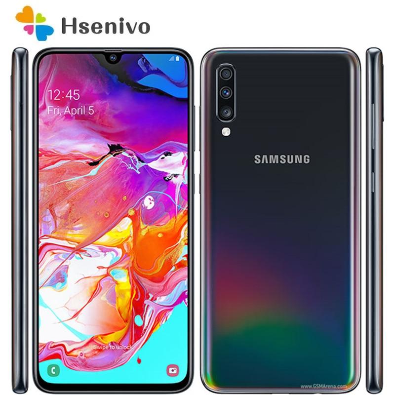 Перейти на Алиэкспресс и купить Samsung Galaxy A70 A705F Восстановленный Оригинальный разблокированный A705YN A705MN A705W A7050 Android 32MP 6,7 ''4500 мАч Бесплатная доставка
