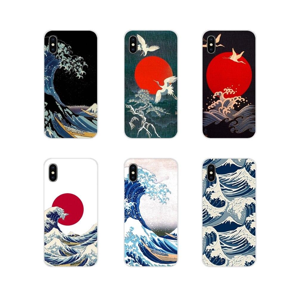 Hokusai la gran ola de Kanagawa de silicona caso de la piel del teléfono para Samsung Galaxy S2 S3 S4 S5 Mini S6 S7 borde S8 S9 S10E Lite Plus