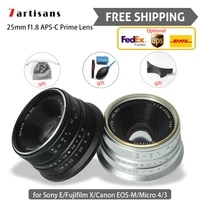 7 artisans 25mm f1 8 aps c prime camera lens photo studio for canon sony e fujifilm x micro 43 free shipping express delivery