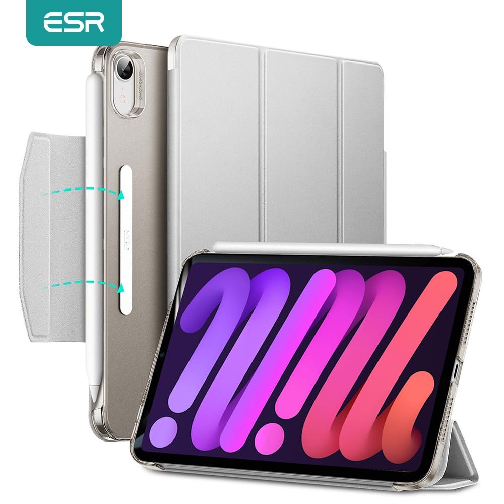 Чехол ESR для iPad mini 6 2021, чехол для iPad mini 6, умный трехскладной чехол с держателем для карандашей и магнитной подставкой для iPad mini 6, чехол чехол