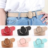 adjustable new arrival free shipping adult pu 8 colors new fashion womens designer round casual ladies belts faux leather 1pc