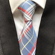 10 cm Width Men's Ties Jacquard Woven Handmade Neck Tie Classic Plaids Neckties for Men