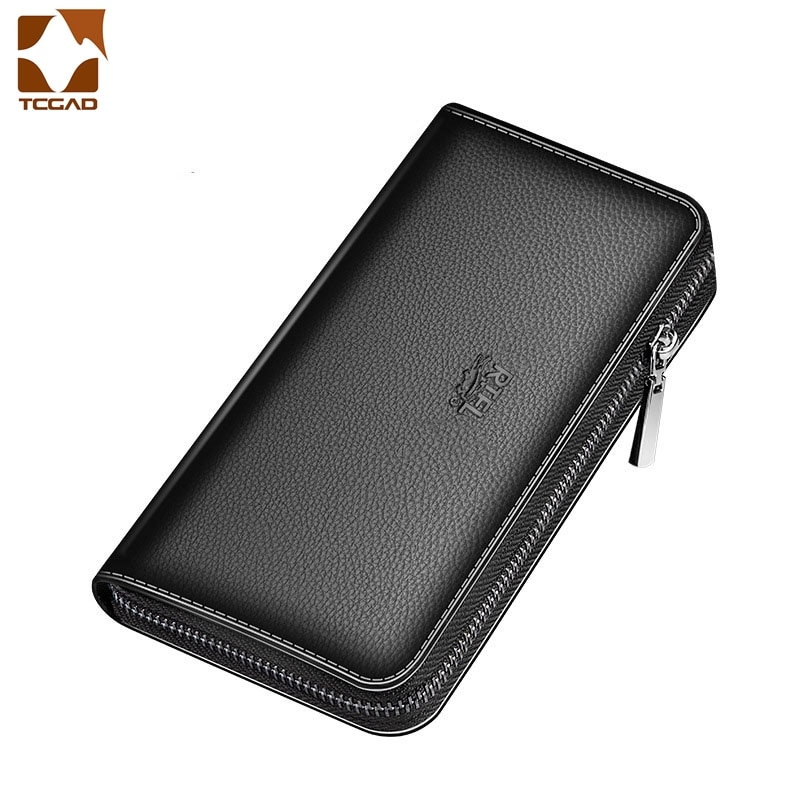 Men's Wallet Clutch Bag Billeteras Para Hombre Mens Wallet Man Purse Leather Genuine Luxury Carteira